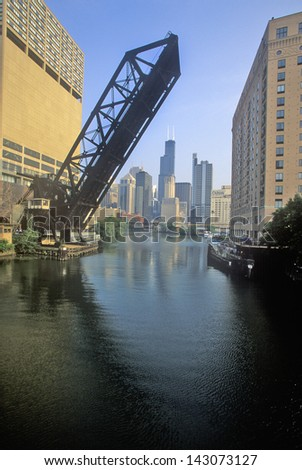 Raised Drawbridge, Chicago, Illinois