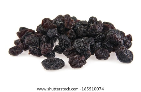 raisin on a white background - stock photo