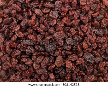 Raisins as an abstract background texture