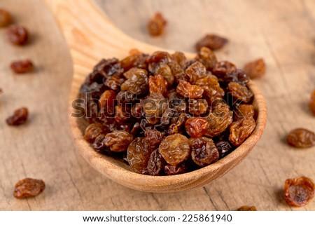 raisins in a bowl - stock photo