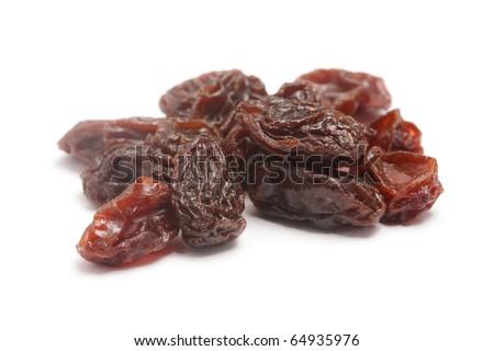Raisins isolated on a white background - stock photo