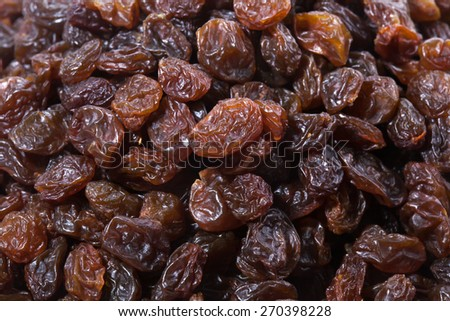 raisins isolated on white background - stock photo