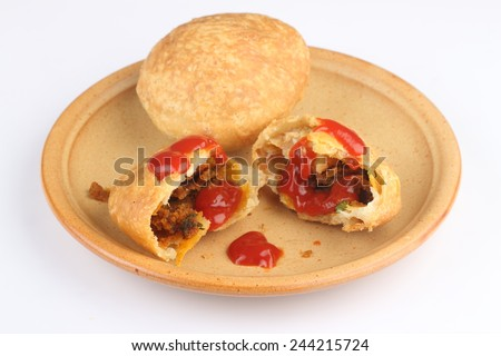 Rajasthani Shahi Raj Kachori stuffed katchori  - stock photo