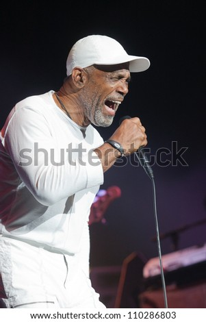 RALEIGH, NORTH CAROLINA - JULY 20: Frankie Beverly performs on stage at Time Warner Cable Music Pavilion at Walnut Creek on July 20, 2012 in Raleigh, North Carolina.