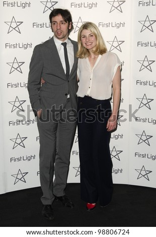 Ralf Little and Jodie Whittaker arriving at The First Light Film Awards 2012 BFI Southbank London. 05/03/2012 Picture by Simon Burchell / Featureflash