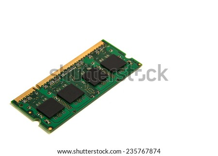 ram notebook module isolated on white background