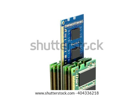 RAM, random access memory close up. - stock photo