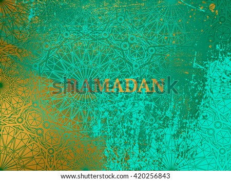 RAMADAN EMERALD GOLD BACKGROUND