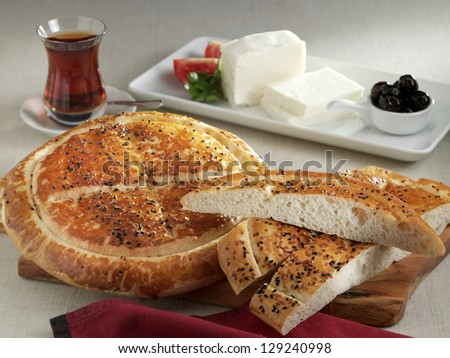 ramadan flat bread - stock photo