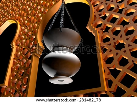 Ramadan lantern - ramadan background - stock photo