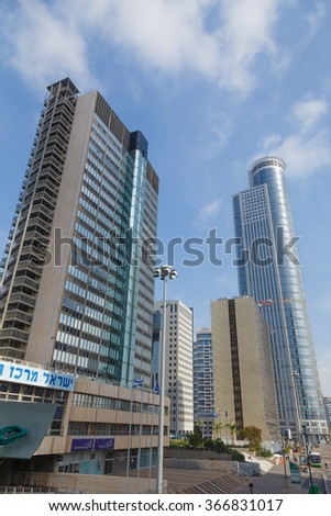 RAMAT GAN , ISRAEL - JANUARY 24 , 2016 : View City Ramat Gan. Downtown Area