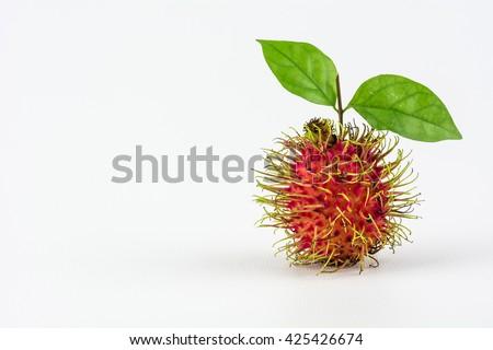 Rambutan fruit isolated on white background./ Rambutan fruit  - stock photo