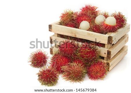 rambutan fruit,thai fruit favorite  - stock photo