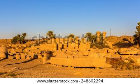 Ramesses II Eastern Temple in Luxor - Egypt - stock photo