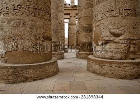 Ramesseum temple, Egypt. - stock photo
