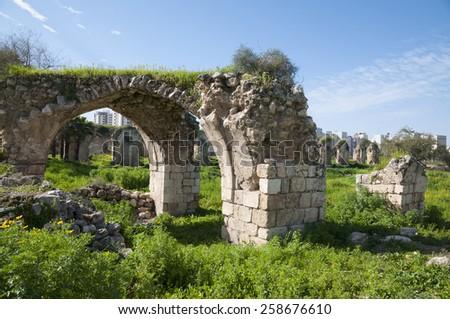 Ramla Ruins - stock photo