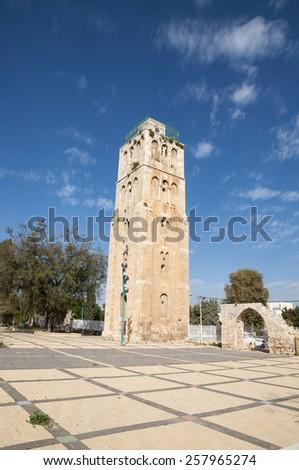 Ramla, White Tower, Ramla Tower - stock photo