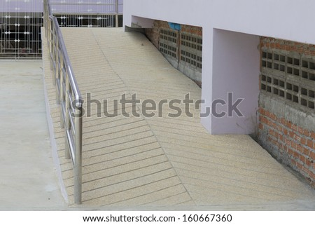 Ramp for the disabled and elderly peoples - stock photo