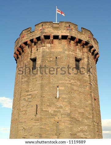 Rampart at Warwick Castle in England - stock photo