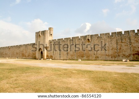 Ramparts of the strengthened city of Aigues-Mortes (Provence, France)