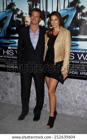 "Rande Gerber and Cindy Crawford at the Los Angeles Premiere of ""His Way"" held at the Paramount Pictures Studios in Los Angeles in Los Angeles, California, United States on March 22, 2011."
