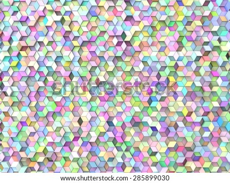 random elevated geometric shapes background (random color version.)
