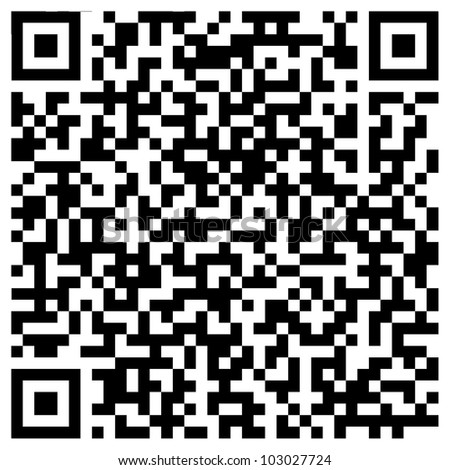 Random generated QR code abstract pattern - stock photo