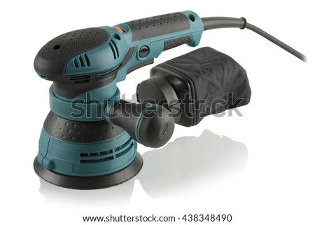 Random Orbit Sander on white background - stock photo