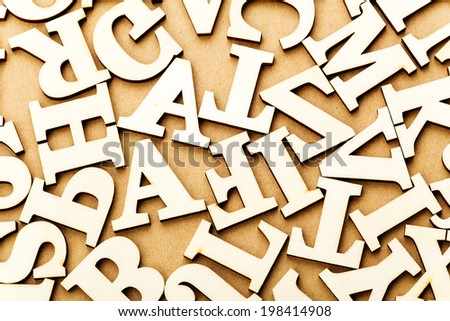 Random wooden letter - stock photo