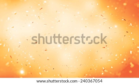randomly flowing confetti backgound - stock photo