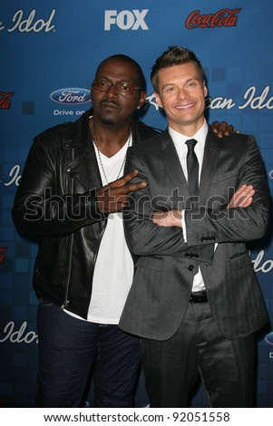 Randy Jackson and Ryan Seacrest at the American Idol Season 10 Top 13 Finalists Party, The Grove, Los Angeles, CA. 03-03-11