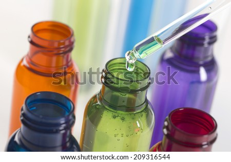 range of Open medicine bottle - stock photo