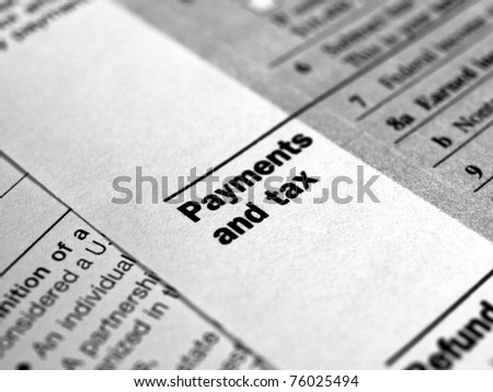 Range of various blank USA tax forms - stock photo