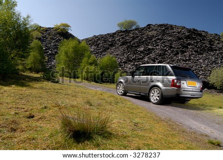 Range Rover V8 sport - stock photo