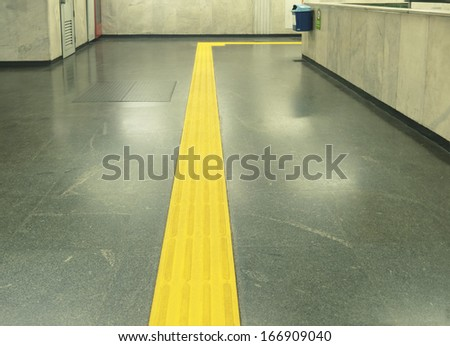 Range to target visually impaired - access to subway stairs     - stock photo