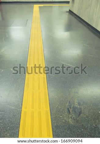 Range to target visually impaired - metro access   - stock photo