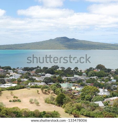 Rangitoto Island and the Hauraki Gulf, Auckland, New Zealand