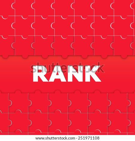 RANK - stock photo