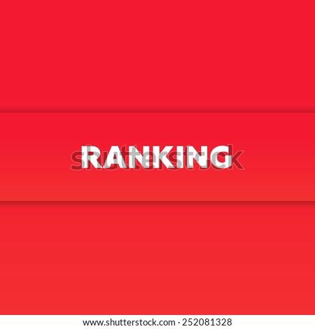 RANKING - stock photo