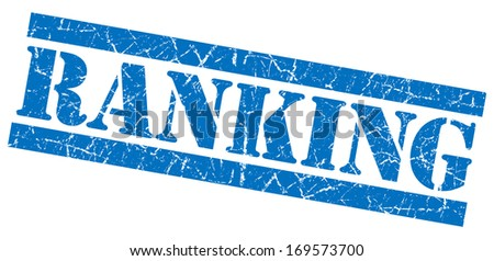 Ranking grunge blue stamp - stock photo