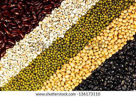 Ranks of different beans