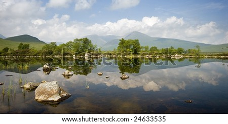 Rannoch Moor, Scotland - stock photo