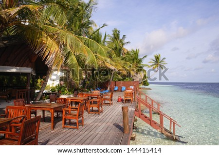 Ranveli Village - Ari Atoll, Maldive Islands - stock photo