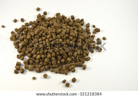 rapeseed meal on a white background