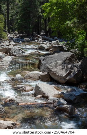 Rapids in Yosemite - stock photo