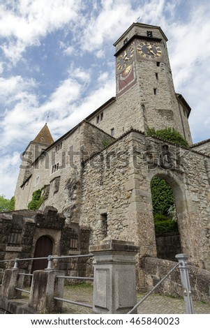 RAPPERSWIL, SWITZERLAND - MAY 10, 2016: The Castle that was built in the early 13th century. The castle became the seat of the Polish National Museum since 1870