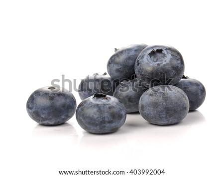 Rasberry isolated on white background. - stock photo