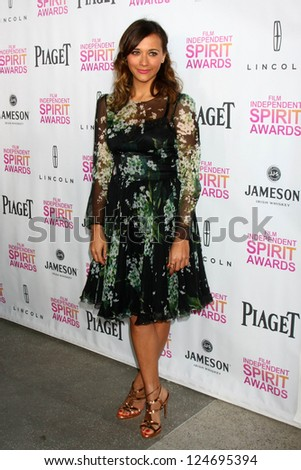 Rashida Jones at the 2013 Film Independent Filmmaker Grant And Spirit Award Nominees Brunch, BOA, West Hollywod, CA 01-12-13