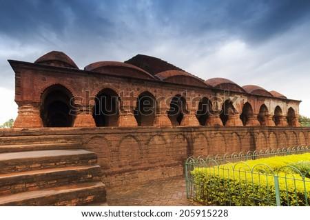 Rasmancha Temple, Bishnupur , India - Old brick temple made in 1600. - stock photo