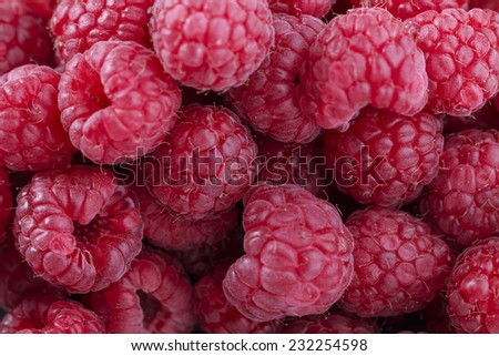 Raspberries Texture - stock photo